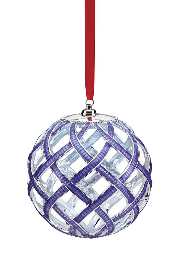 Lenox Woven Enamel Lit Ornament In Purple  鍍銀釉彩掛件  $22.99  bedbathandbeyond.ca  604 904 1118
