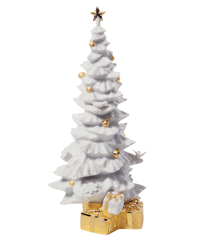Lladró Re-Deco O Christmas Tree  瓷質聖誕樹擺件  $620  lladro.com  800 634 9088