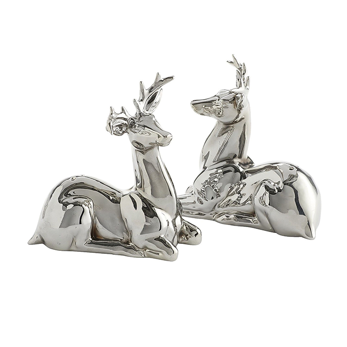 Pier 1 Imports Silver Reindeer Salt & Pepper Shakers  銀色小鹿調料罐  $19.95  pier1.com  604 742 2340