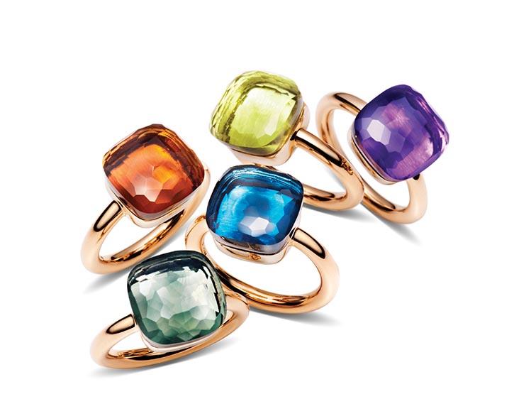 來自代表性系列Nudo的18k玫瑰金戒指