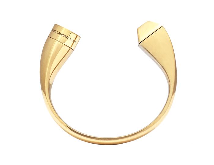 Saint Laurent Iconic Le Deux Clous Bracelet in Vermeil  聖羅蘭手環  US$1,245