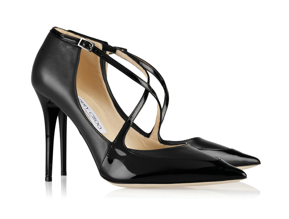 Jimmy Choo Leather Pointy Toes 周仰傑高跟涼鞋 US$695