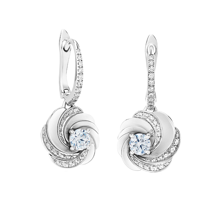 De Beers Aria Sleeper Earrings  戴比爾斯鑽石耳環  US$6,200