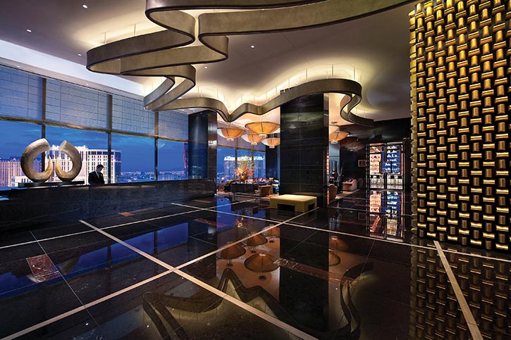 位於文華東方酒店23層的空中大廳。