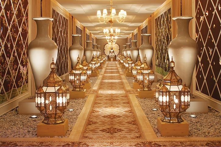 著名的Encore酒店招牌Spa的入口處。