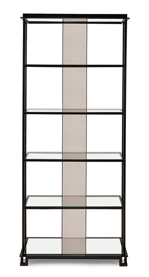 Christopher Guy Sacré-Coeur Shelving Cabinet, $7,989 手工製作的金屬置物架,簡約中透出典雅細膩之美,背面的玻璃鏡面在裝飾之餘,可以更好地襯托出陳列品。 At Jordans Interiors, 604 733 1174  jordans.ca