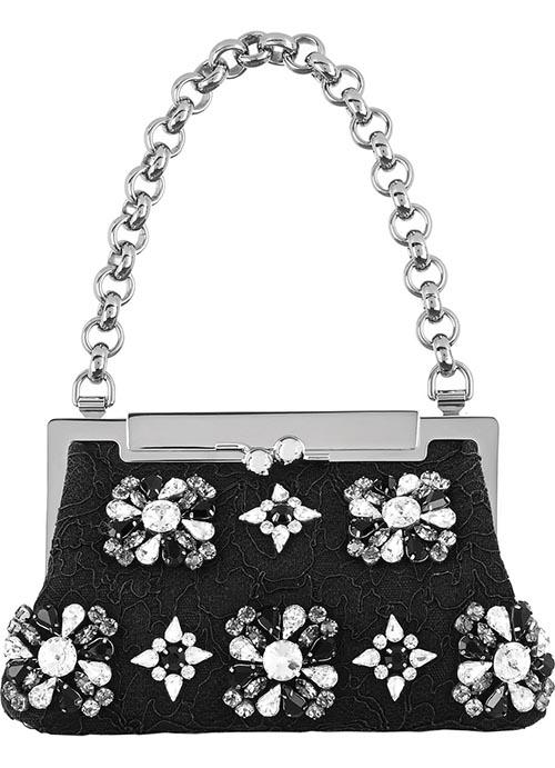 杜嘉班納蕾絲肩包 US$2,995 精緻的水鑽,經典的蕾絲。杜嘉班納的精緻魔幻,在這款設計中展現無疑。 net-a-porter.com