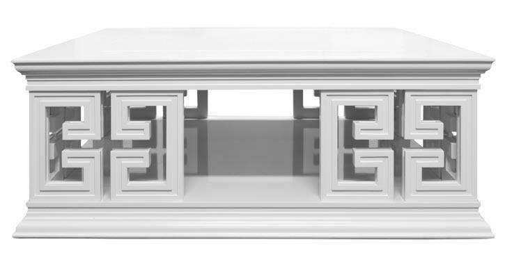 3.Mint Radcliffe Cocktail Table, $2,299 雕琢精美的鏤空矮桌,帶來了雅致的東方韻味,白色的漆面更顯細膩溫潤。 At Mint Interiors, 604 568 3430 shop.mintinteriors.ca