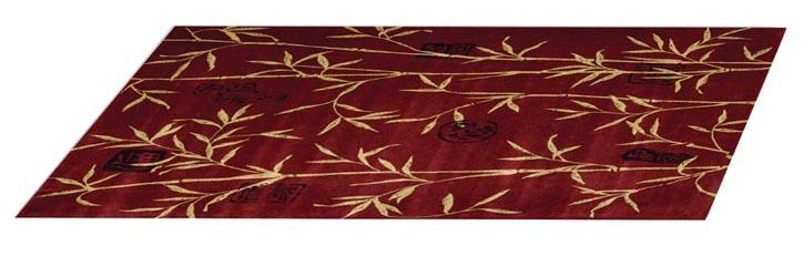 Bed Bath & Beyond Nourison Chambord Rug, $659.99   深紅的底色上,金色的修竹和各式印章鋪展開來,華麗喜慶中不乏些許古老的文化氣息。   At Bed Bath & Beyond, 604 904 1118   bedbathandbeyond.ca