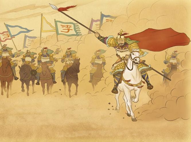 公元629年,大唐遣十幾萬大軍出擊東突厥,時任兵部尚書的李靖,率領先頭部隊,深入北寒大漠,攻克定襄城。頡利可汗倉惶出逃,後被擒獲,東突厥宣告滅亡。