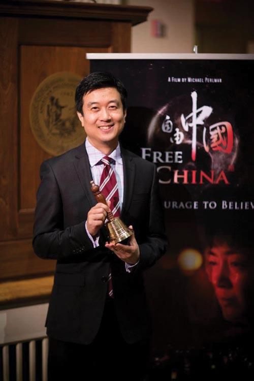 記錄片《自由中國》製片人黃建昇(Kean Wong)。