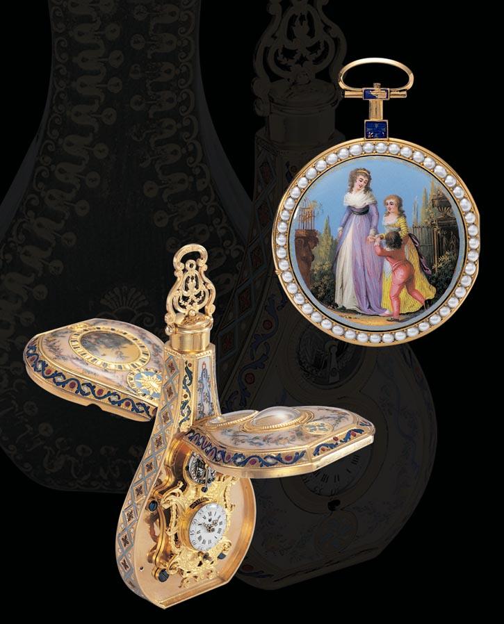 雅克德羅於18世紀70至80年代出品的微繪琺琅古董錶。 jaquet-droz.com