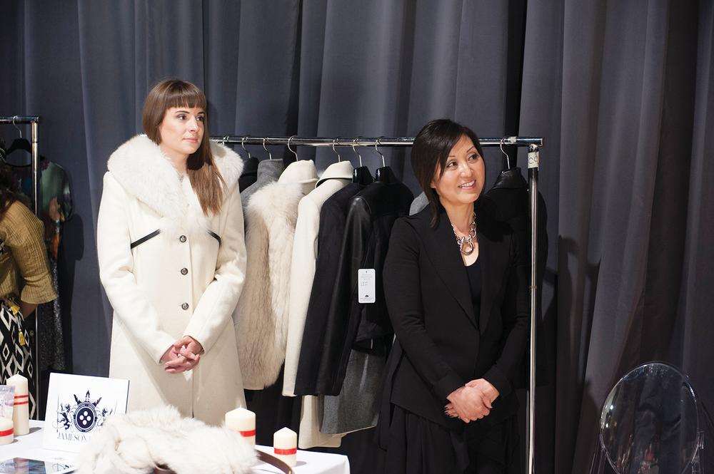 Susan Langdon和Genevieve Pearson在萬事達國際時裝週TFI媒體與採購見面會FW14。