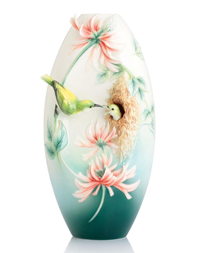 「甜蜜護守」之太陽鳥花瓶