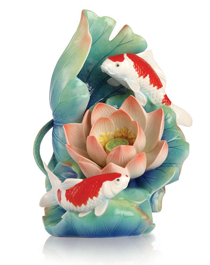 「富泰和樂」錦鯉擺飾