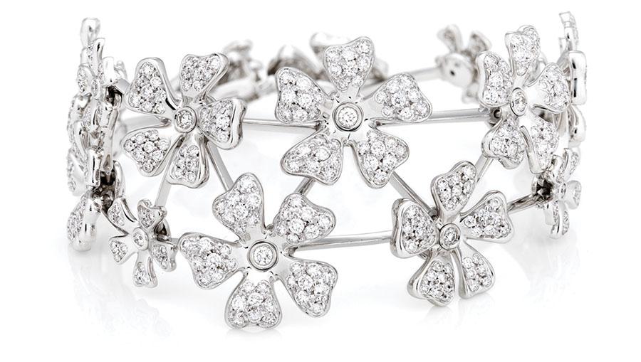 De Beers Wildflowers Bracelet 戴比爾斯18K白金鑽石花朵手鏈 USD$32,000