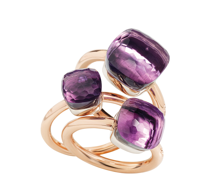 Pomellato Nudo Collection 18k Rose Gold Rings 寶曼蘭朵紫水晶玫瑰金戒指 $2,013