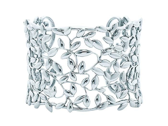 Tiffany Olive Leaf Cuff 蒂芙尼橄欖葉鏤花手環 $1,250