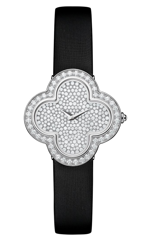 Van Cleef & Arpels Alhambra Diamond Watch 梵克雅寶鑽石手錶 $34,700