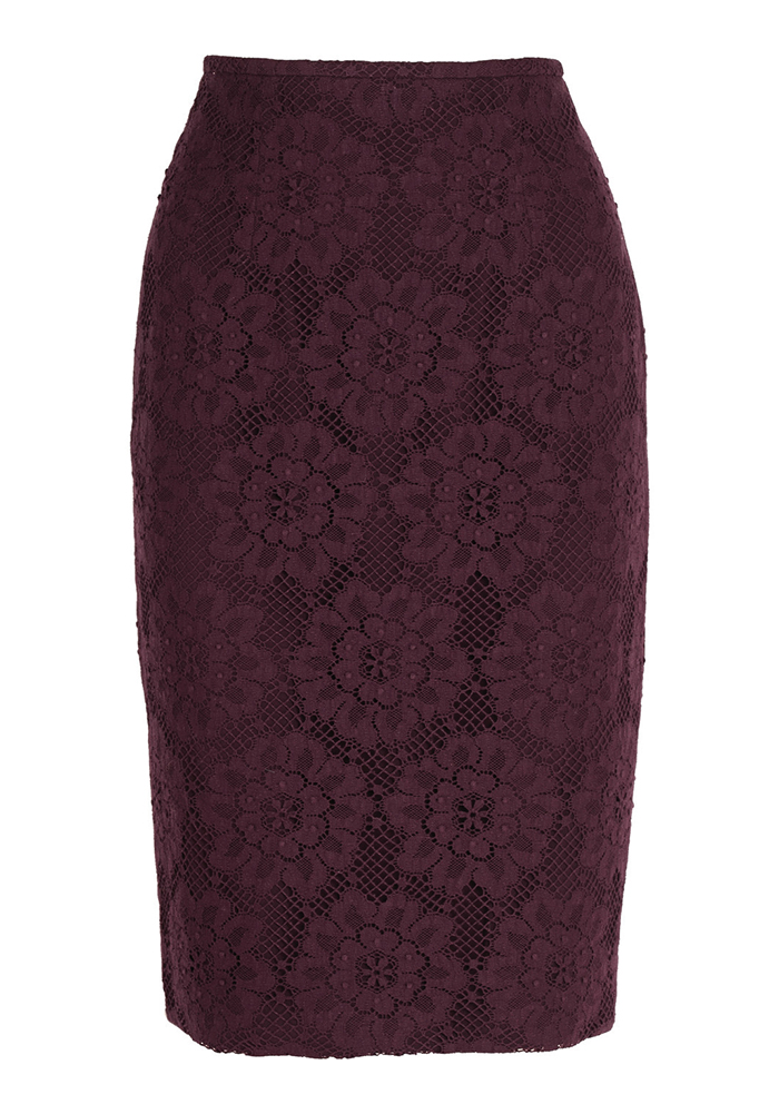 Burberry English Floral Lace Pencil Skirt 巴寶莉蕾絲鉛筆裙 $925