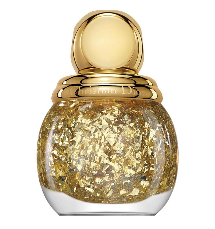 Diorific Gold Leaf Effect Top Coat - Golden Shock 迪奧金粉甲油 $29