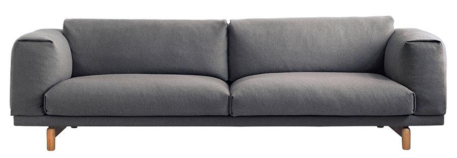 Mint Muuto Rest 3-seater Sofa ,    $6,699   厚實的靠背、坐墊、扶手合作營造出一個溫暖安全的空間,輕盈地懸浮在簡潔纖細的木腳上。    At Mint Interiors, 604 568 3430       shop.mintinteriors.ca