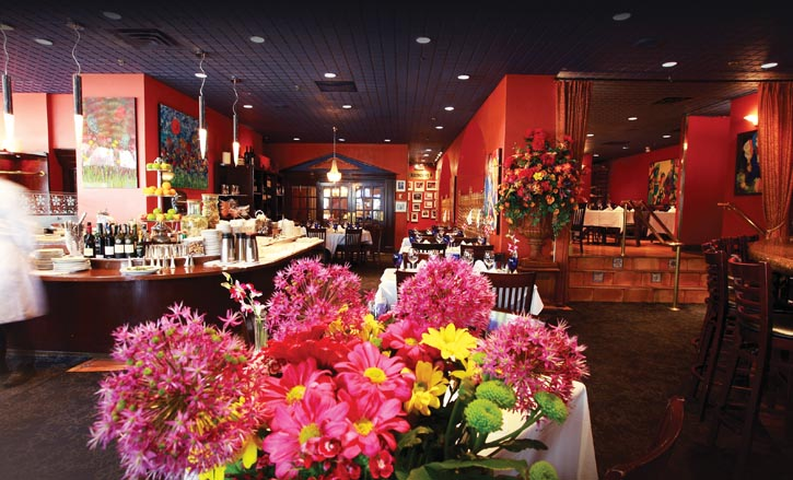 溫哥華Francesco's Ristorante Italia餐廳內景。