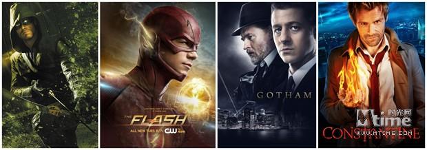 2014年DC小熒屏劇目《綠箭俠》《閃電俠》《哥譚》《康斯坦丁》
