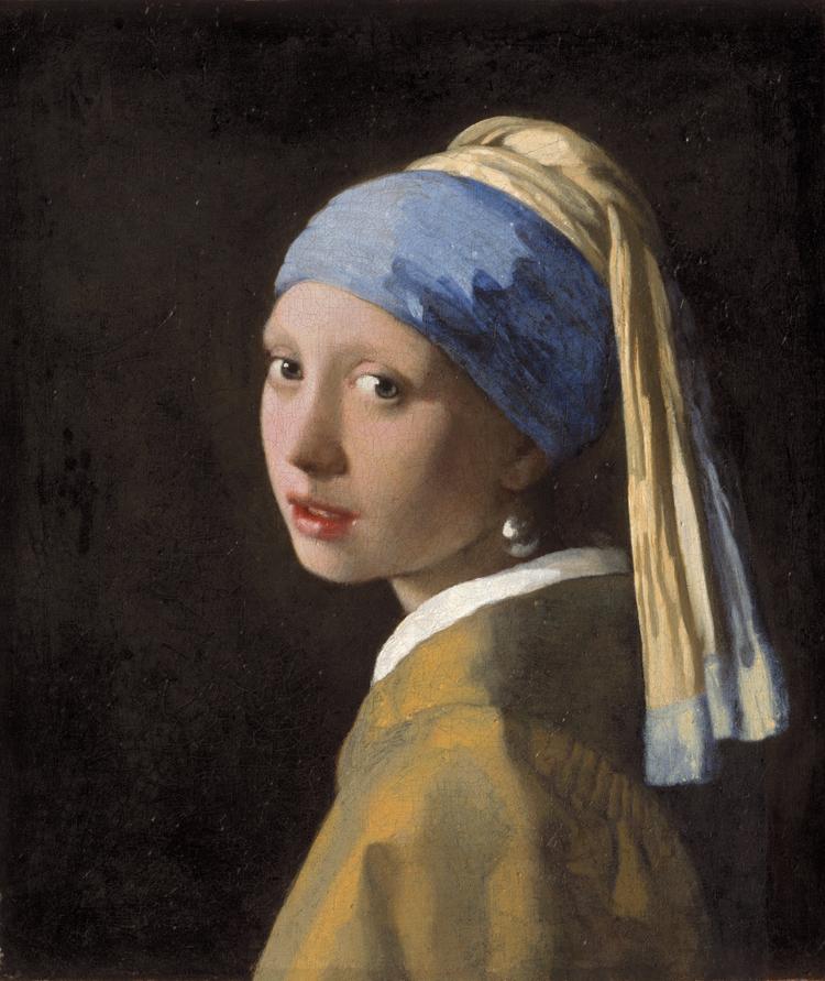 名畫:戴珍珠耳環的少女。約翰內斯·維米爾(Johannes Vermeer)作于1665年。 該莫瑞泰斯博物館 (  The    Mauritshuis Museum )提供。