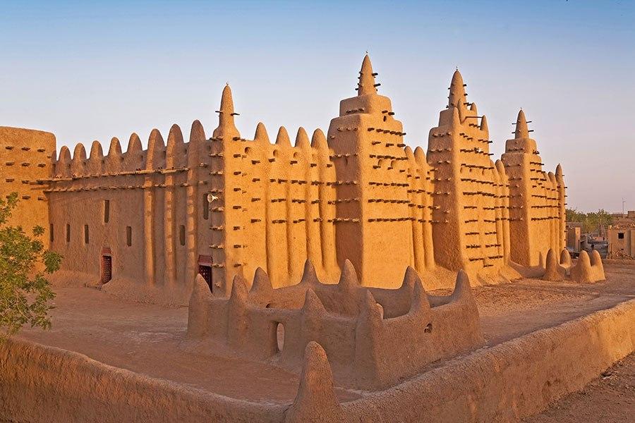 傑內大清真寺 - 位於非洲馬裏,始建於13世紀