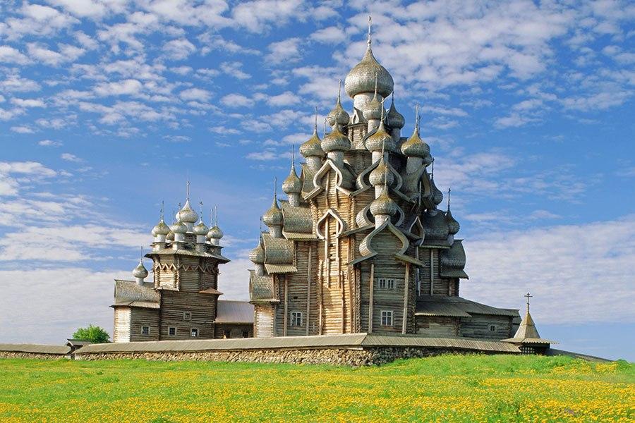 基日島鄉村教堂 - 位於俄羅斯奧涅加湖,建於17世紀