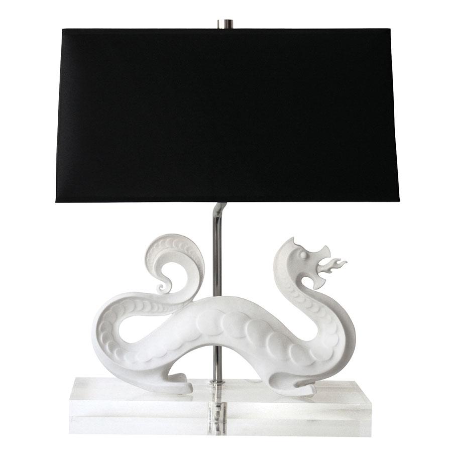 Mint Dragon Lamp 陶瓷龍形底座檯燈, $799 mintinteriors.ca, 604 568 3430