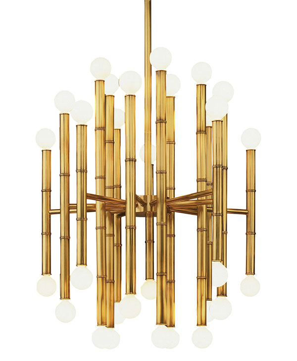 Mint Meurice 30 Light Chandelier 竹節形金屬吊燈, $1,399 mintinteriors.ca, 604 568 3430