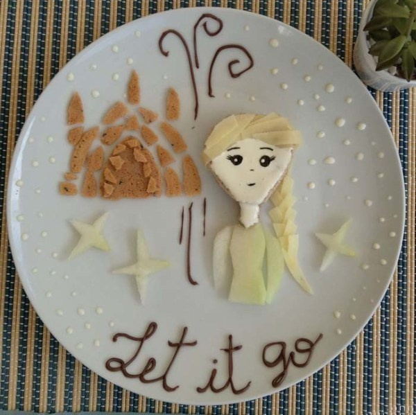 Creative Children's Meal Elsa