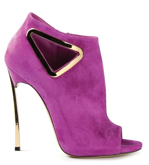 Casadei 'Triangle' Booties 卡薩帝高跟鞋 $1,379 At Farfetch.com