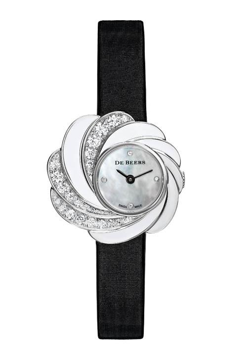 De Beers Aria Watch 戴比爾斯鑽石母貝錶 $21,840 At De Beers Boutiques