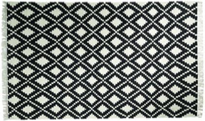 BoConcept Morocco Rug, $749-$995 經典的黑與白交織成略帶異域風情的方格紋,放置在地面上風格自然彰顯。 At BoConcept, 604 730 8111 boconcept.ca