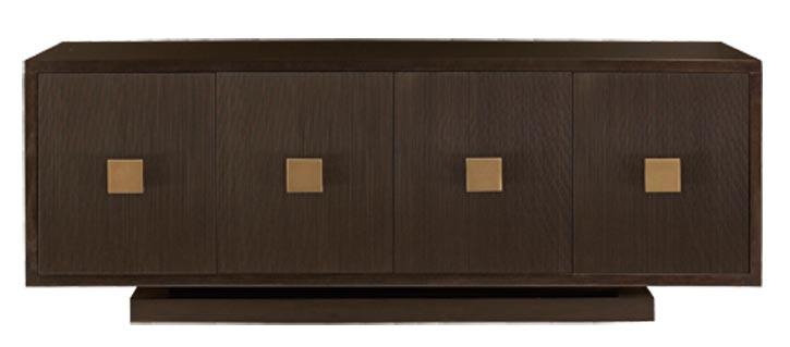 2.Bernhardt Boulevard Buffet, $2,195 用直線分割出比例適宜的方塊,配合材質和紋理的變化,簡潔卻不枯燥。 At Paramount Furniture, 604 273 0155 paramountfurniture.ca