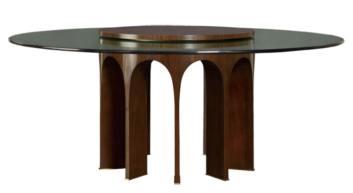 5.Baker Arcade Dining Table 靈感來自古羅馬的圓形競技場,用精準的結構比例表現出厚重大氣的建築感。 At Brougham Interiors, 604 736 8822 broughaminteriors.com