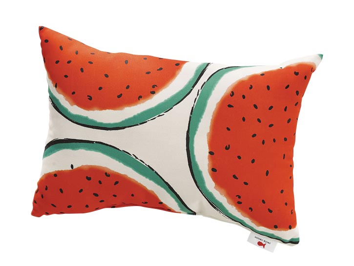 Party Watermelon Outdoor Pillow 「西瓜派對」戶外靠枕 crateandbarrel.com  604 269 4300