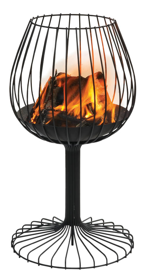 Sywawa Brandy Fire Basket 金屬火架 livingspace.com, 877 683 1116