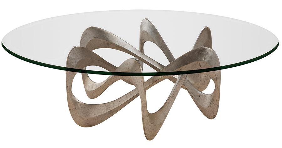 Christopher Guy Parisian Graffiti Coffee Table, $6,757 手工打造的鋁製底座,盤旋出華麗的曲線,依然眷戀著昨夜的漫天飛雪。 At Jordans Interiors, (604) 733-1174,jordans.ca