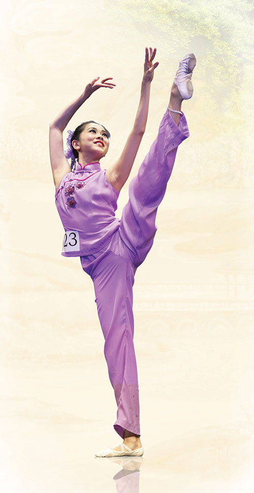 劉明娜在2014年「全世界中國舞舞蹈大賽」中。