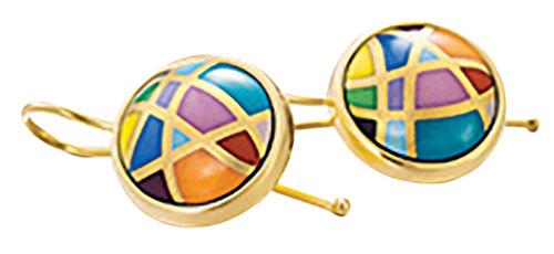 Freywille Cabochon Hanger Earrings 琺瑯耳環 $1,960