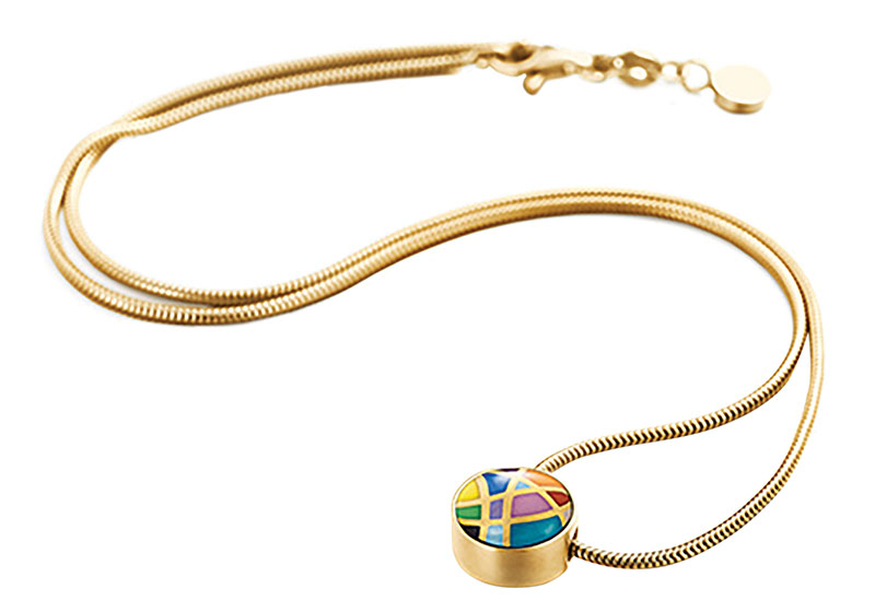 Freywille Cabochon Pendant 琺瑯凸圓形吊墜 $1,150 Snake Chain 蛇形鏈 $1,250