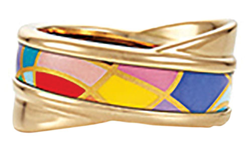 Freywille Tango Ring 琺瑯戒指 $3,160