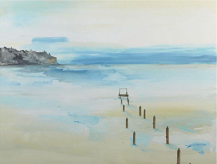 Crate & Barrel Foggy Dock Print, $450 簡潔的筆觸描畫出霧靄飄渺的海岸景色,為家中送來清爽的海風。 At Crate and Barrel, (604) 269-4300 crateandbarrel.com