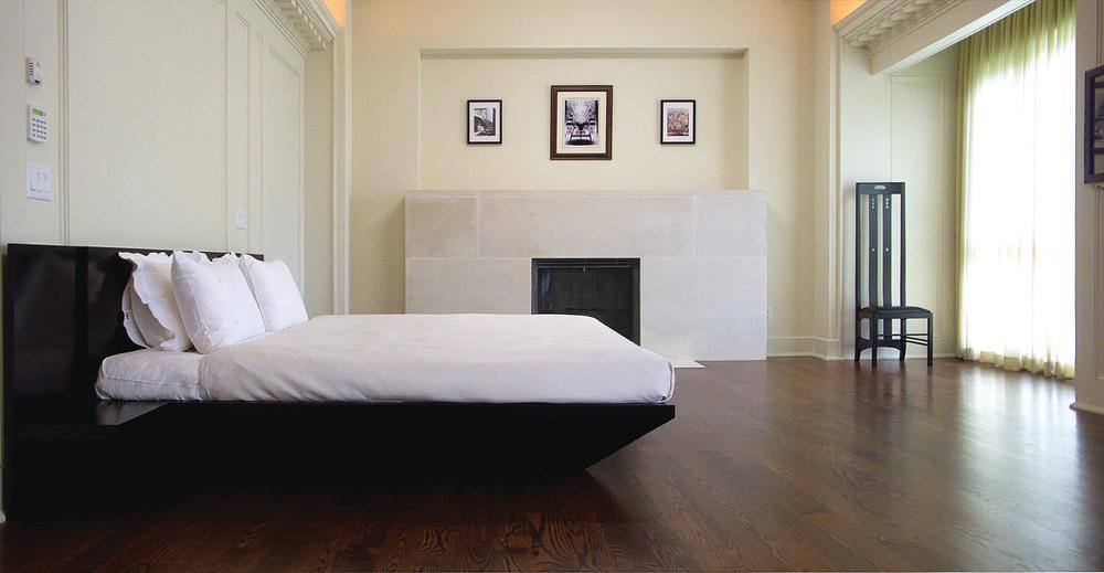 受蘇格蘭裝飾藝術的啟發,主臥室煥發出祥和安寧的氣息。