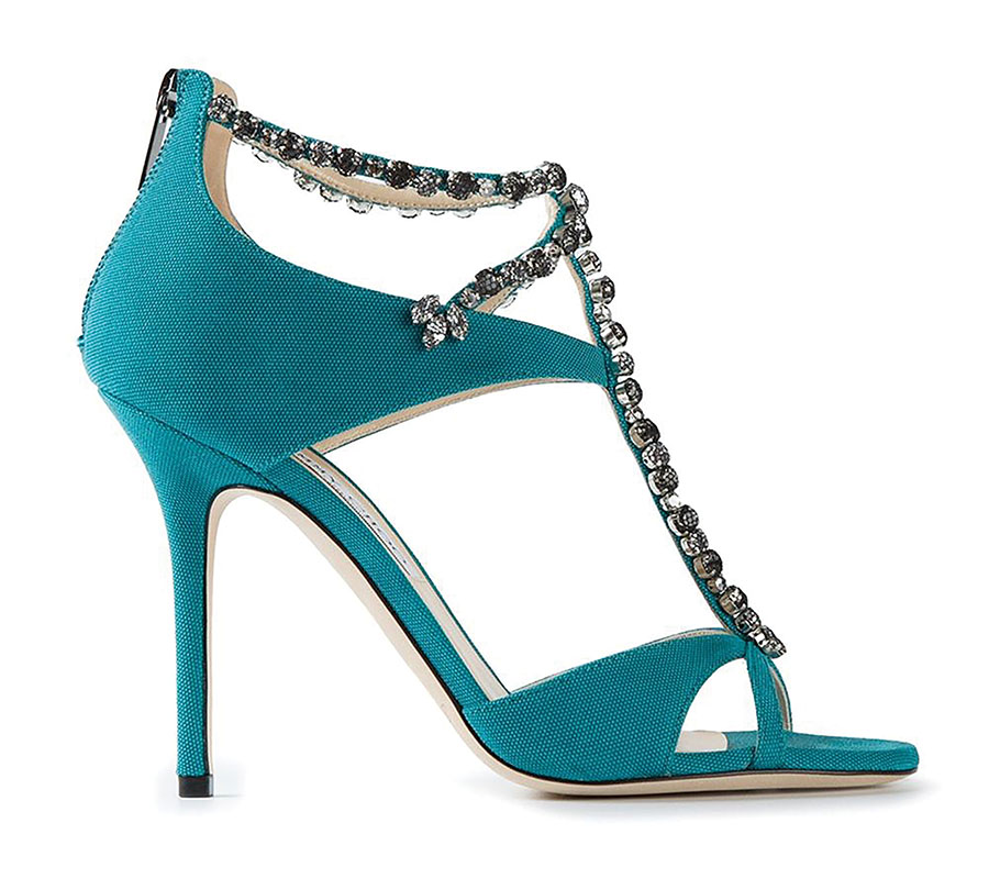 Jimmy Choo Faiza Sandals   周仰傑鑲鑽晚裝高跟鞋 $1,694