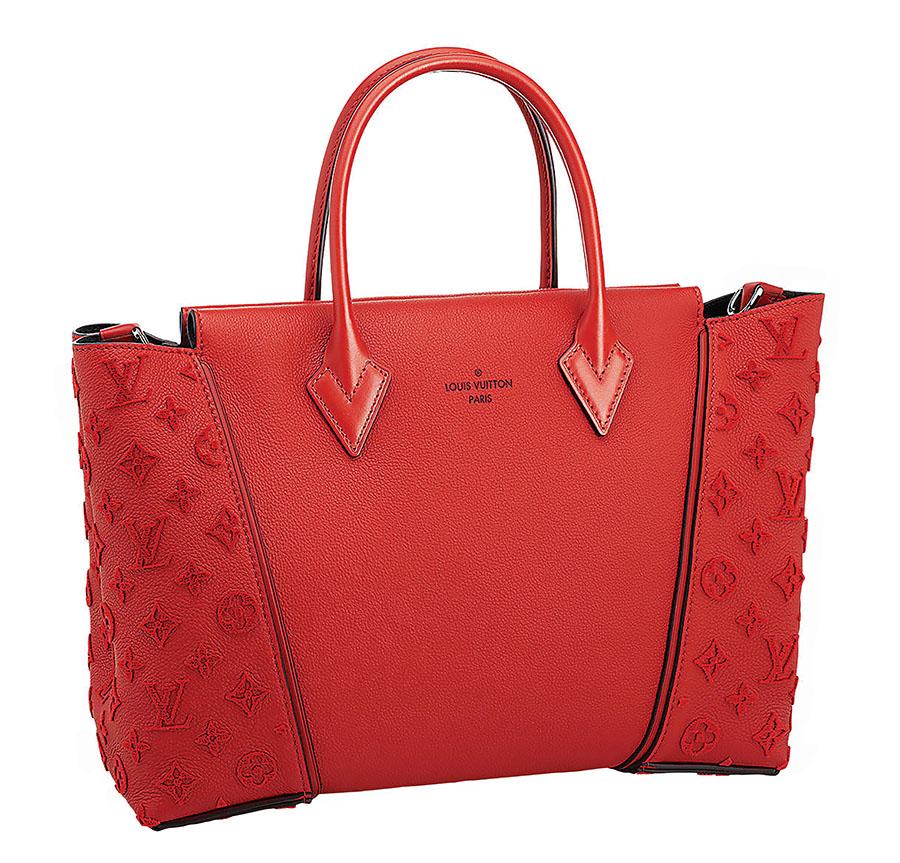 Louis Vuitton W PM Bag   路易威登紅色皮包 $4,900